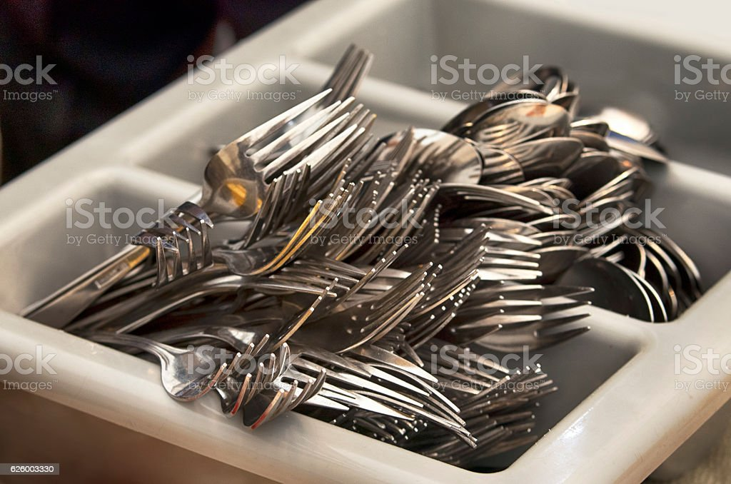 Catering cutlery royalty-free stock photo