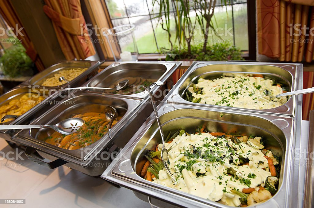 Catering food at a wedding party royalty-free stock photo