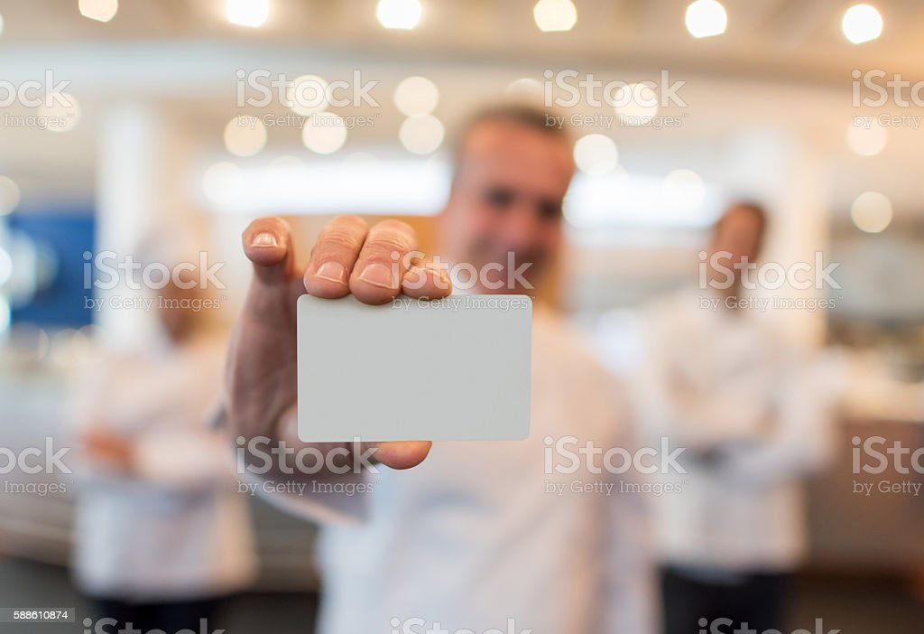 Catering service contact info stock photo