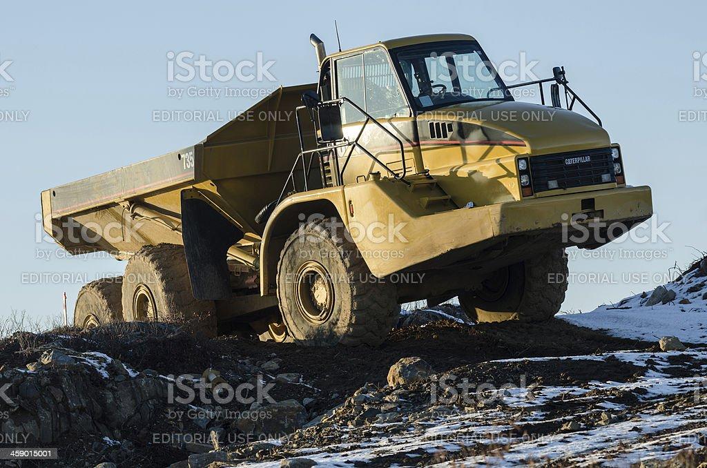 Caterpillar 735 Dump Truck royalty-free stock photo