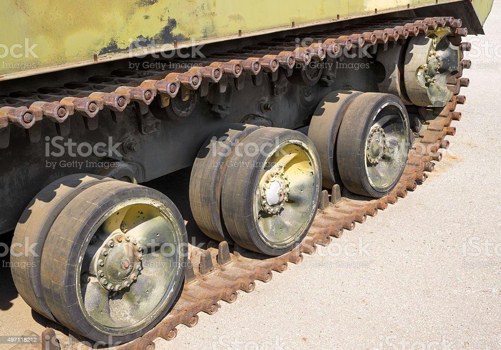 Caterpillar armored vehicles stock photo