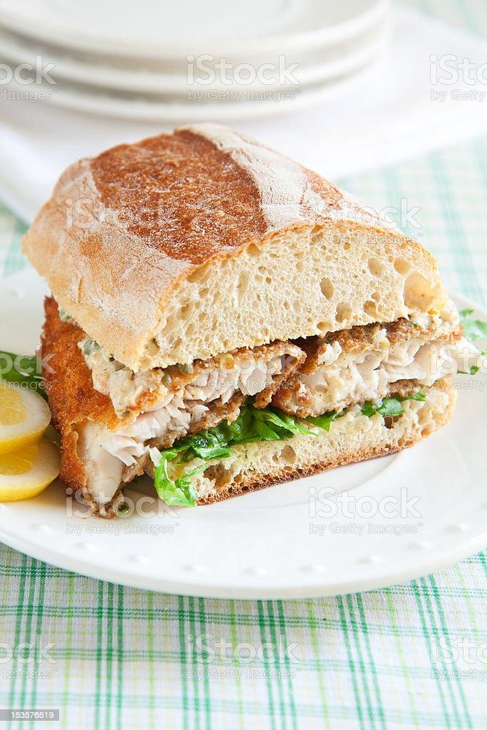 Catfish Sandwich stock photo
