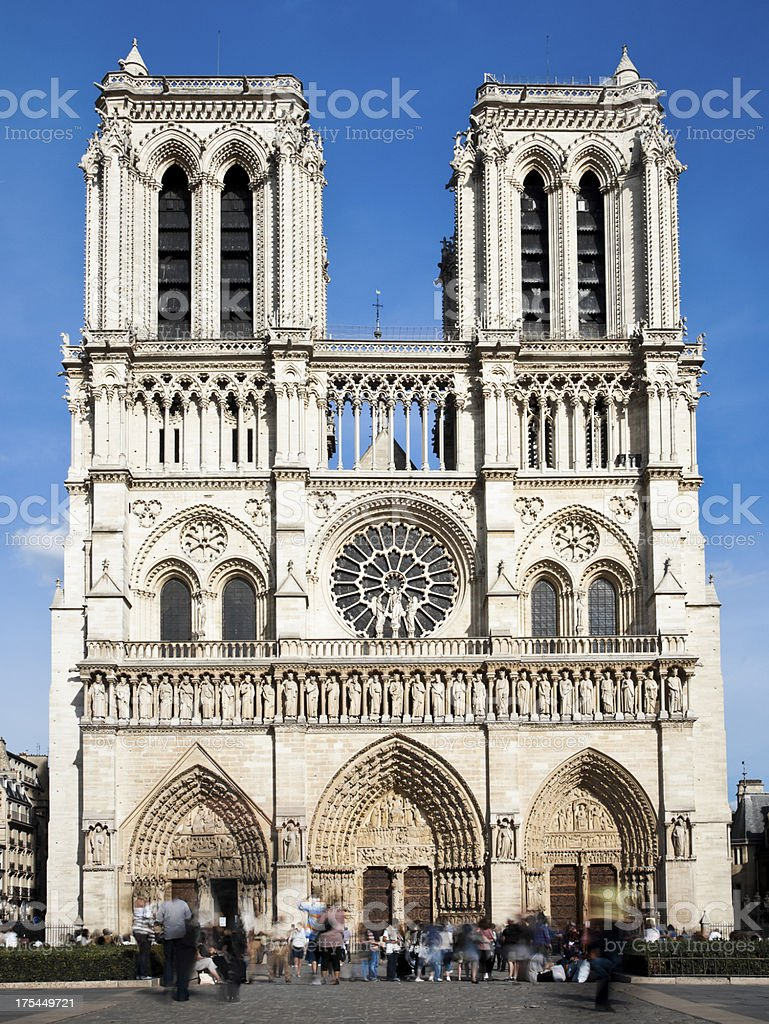 Cathédrale Notre-Dame de Paris stock photo
