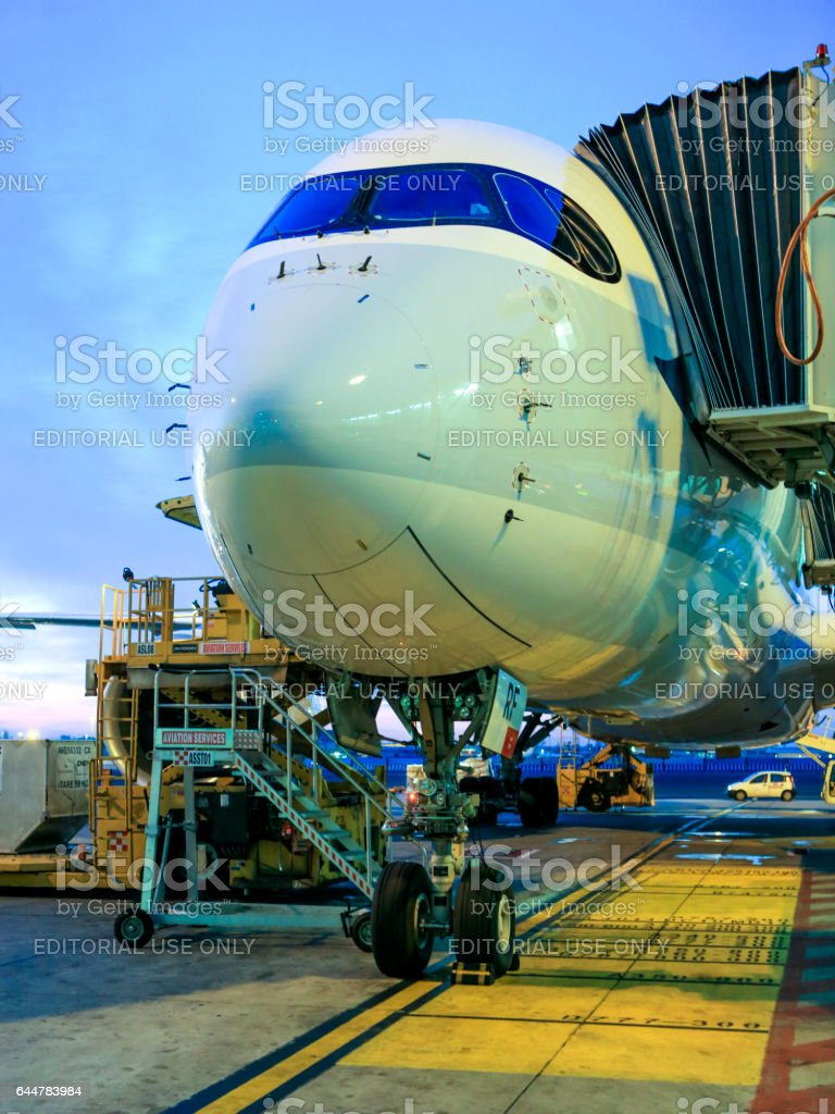 Cathay Pacific A350 stock photo