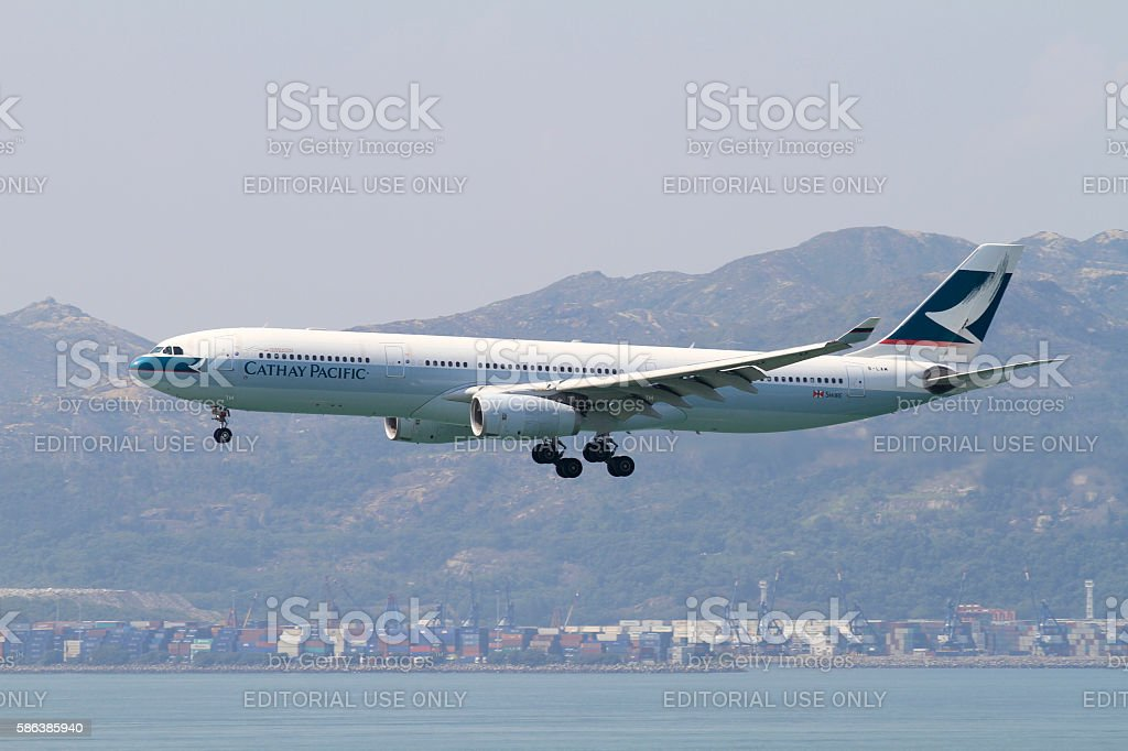 Cathay Pacific Airbus A330-300 stock photo
