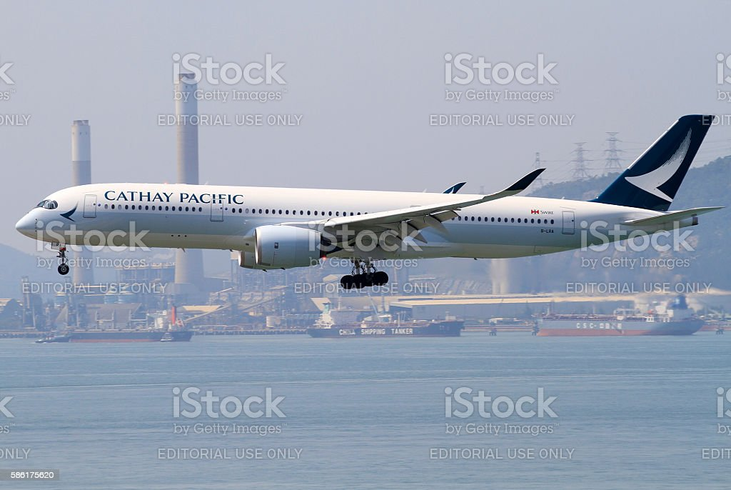 Cathay Pacific Airbus A350-900 stock photo