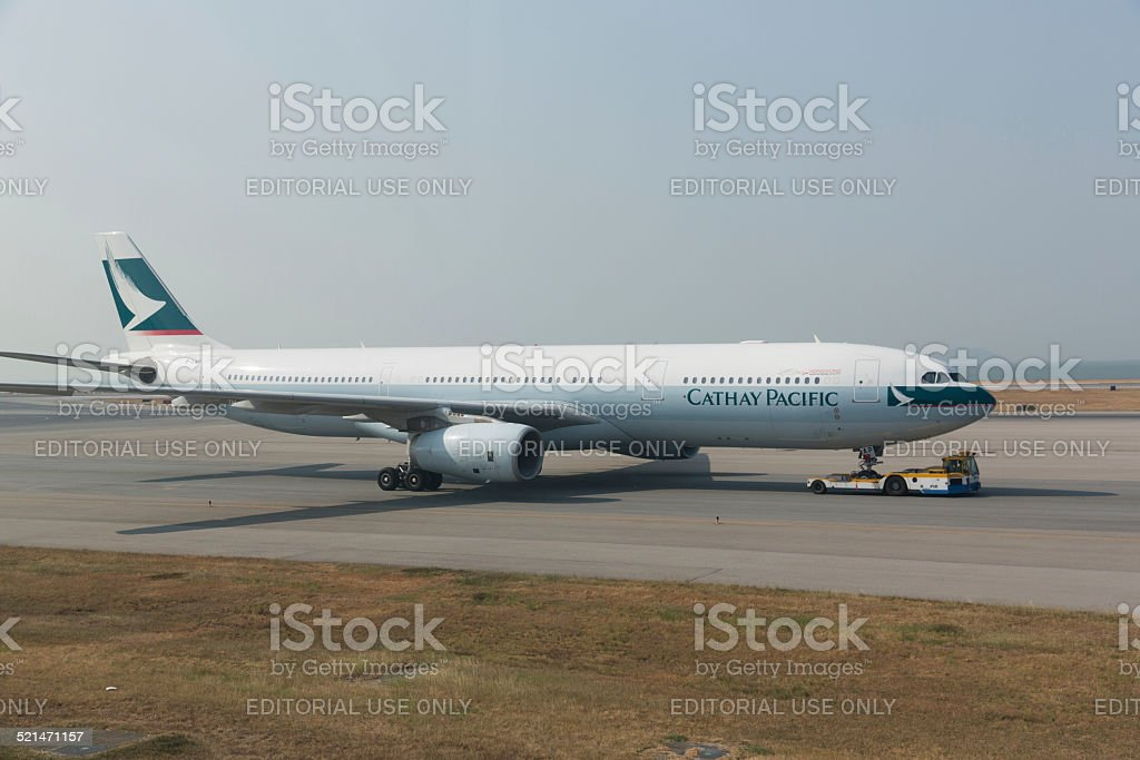 Cathay Pacific Airways Airbus A330 stock photo