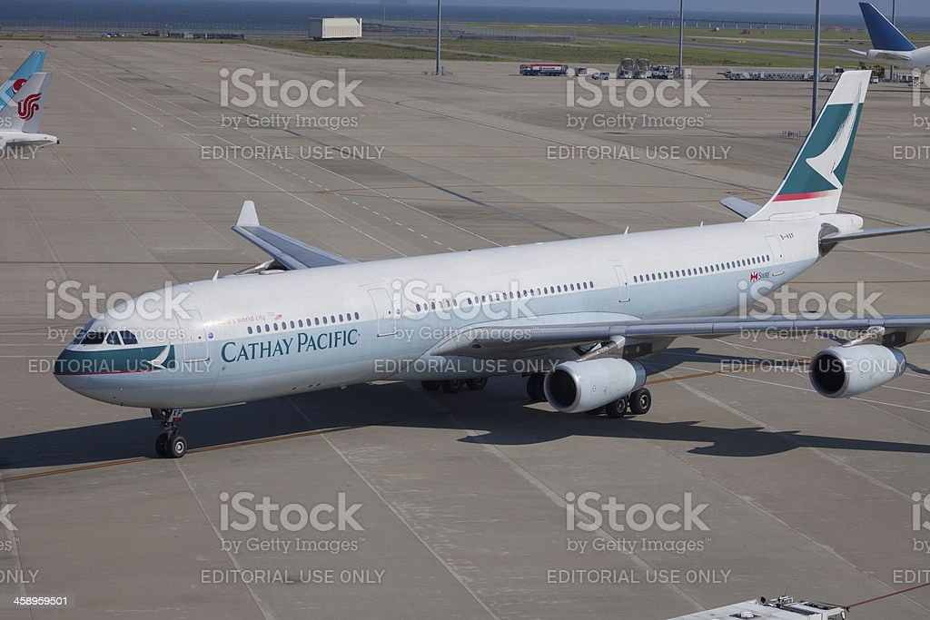 Cathay Pacific Airways Airbus A340-300 royalty-free stock photo