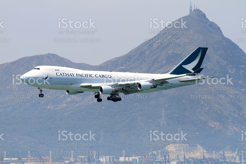 Cathay Pacific Boeing 747-400 Cargo stock photo