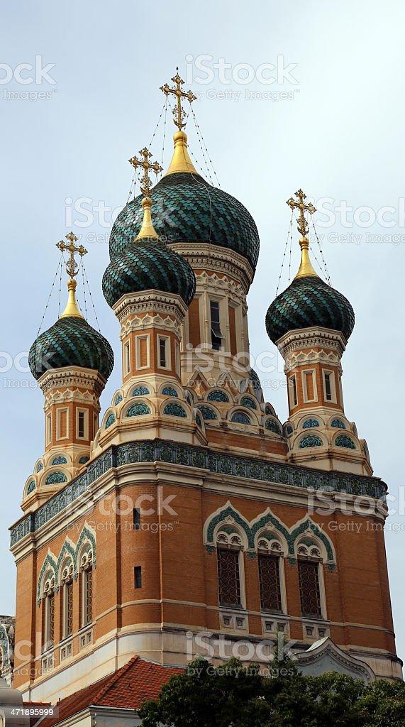Cath?drale Orthodoxe Russe Saint-Nicolas stock photo