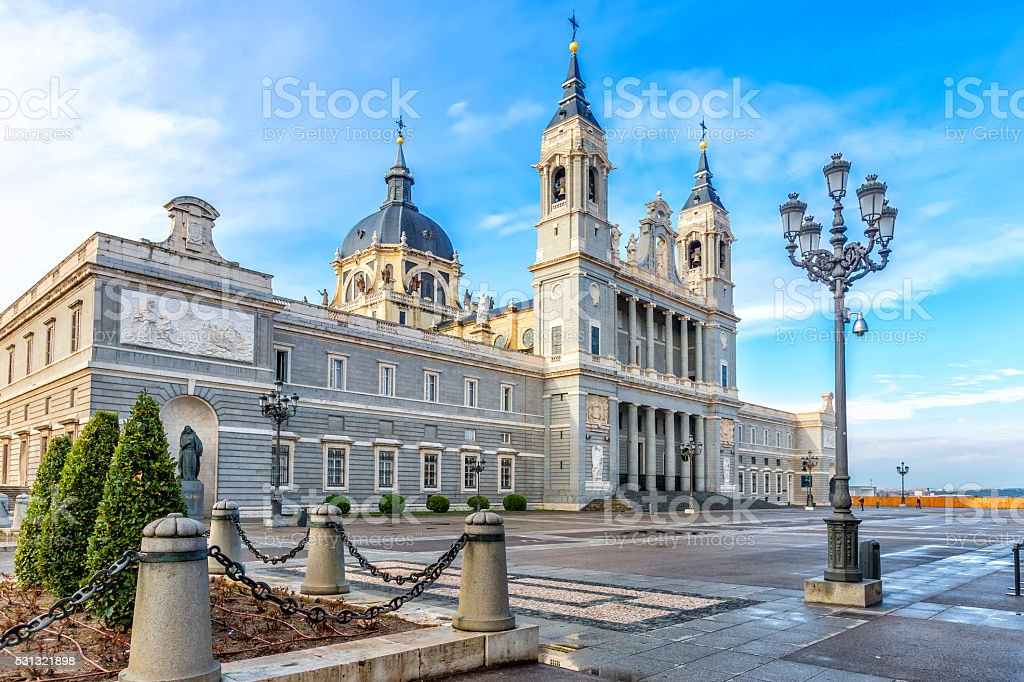 Cathedral Almudena, Madrid, Spain stock photo