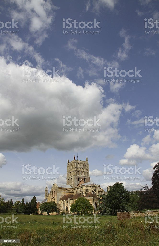 Cathedral Alone on the Horizon stock photo