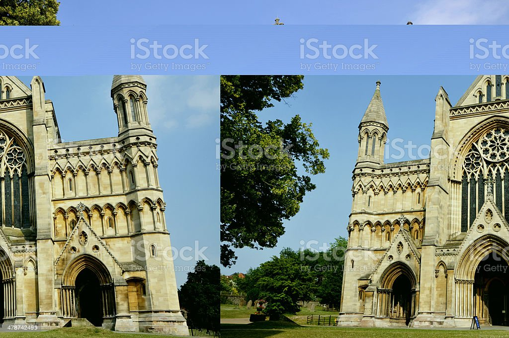Cathedral and Abbey Church of St.Albans stock photo