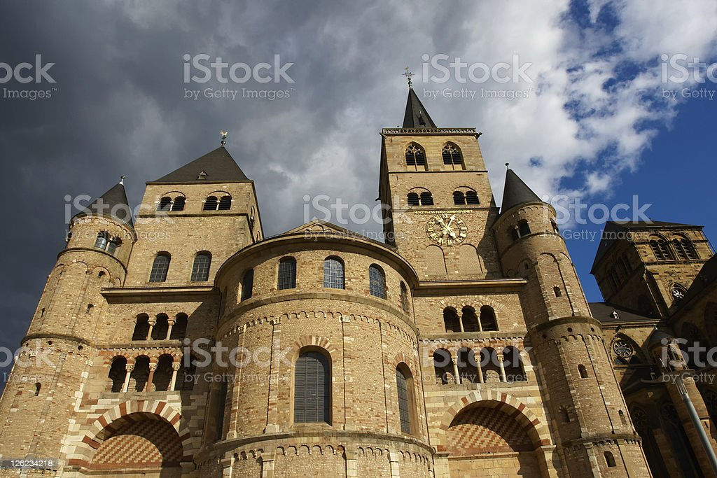 Cathedral and church of Our Lady, Trier, Germany stock photo