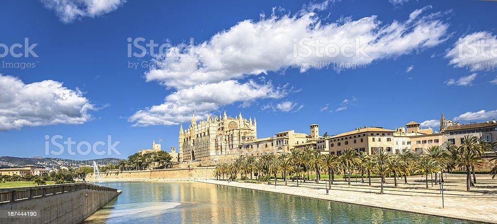 Cathedral and city view - Palma de Mallorca stock photo