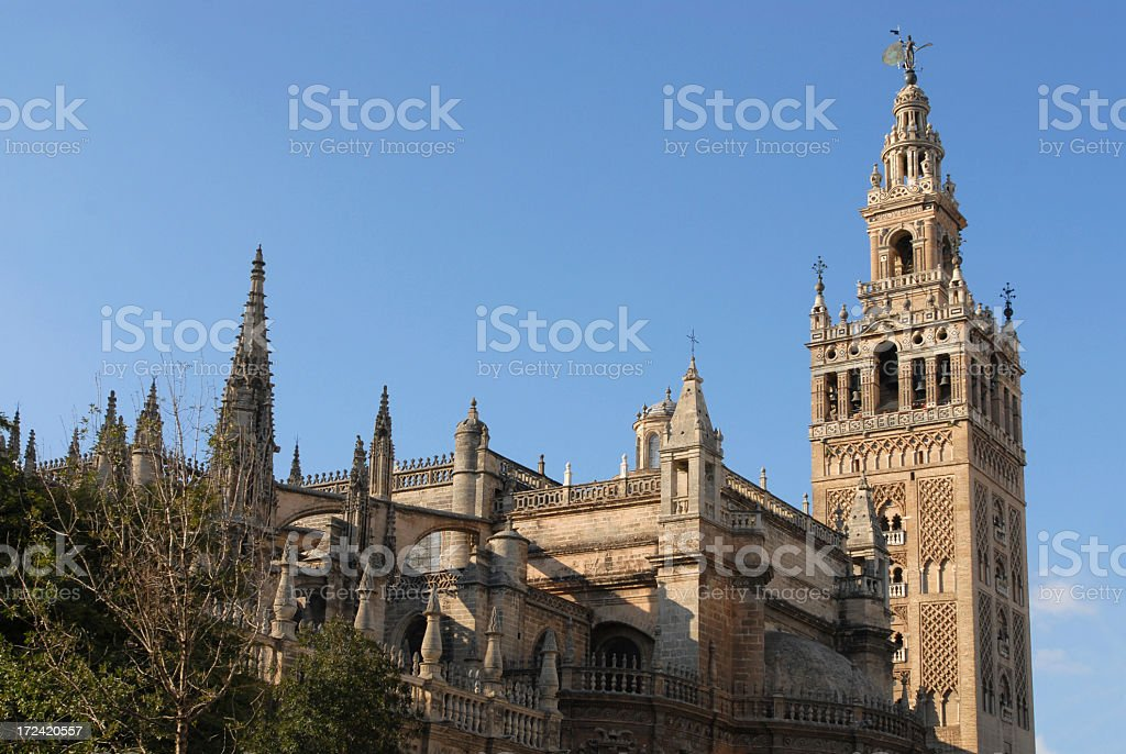 Cathedral and Giralda, Seville royalty-free stock photo