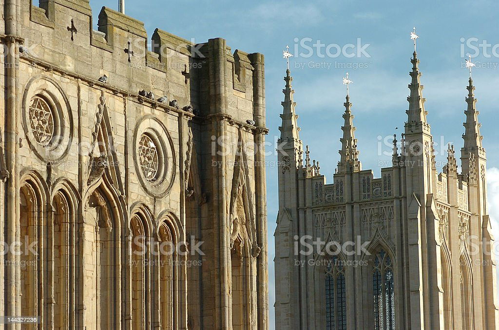 cathedral and tower stock photo