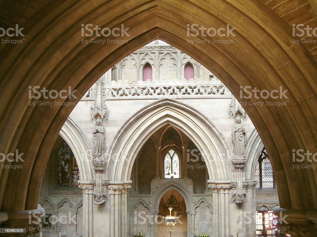 Cathedral arches stock photo