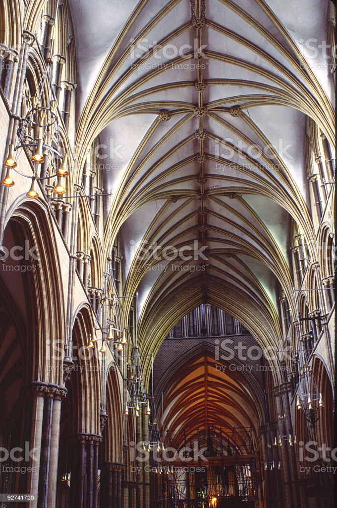 Cathedral Arches royalty-free stock photo