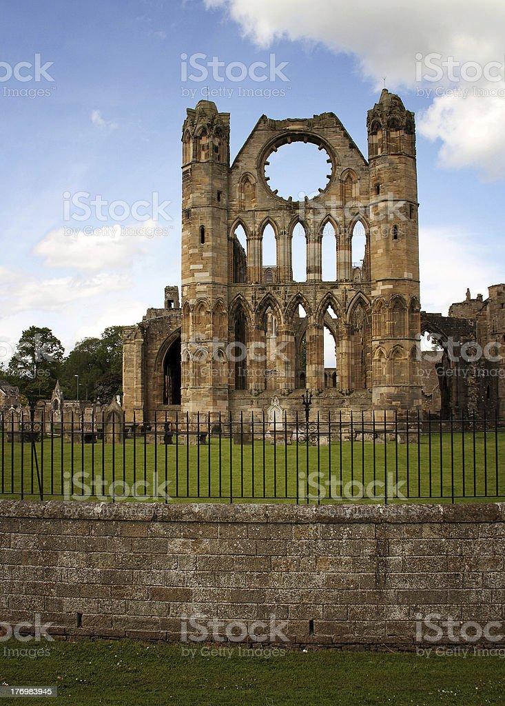Cathedral at Elgin royalty-free stock photo