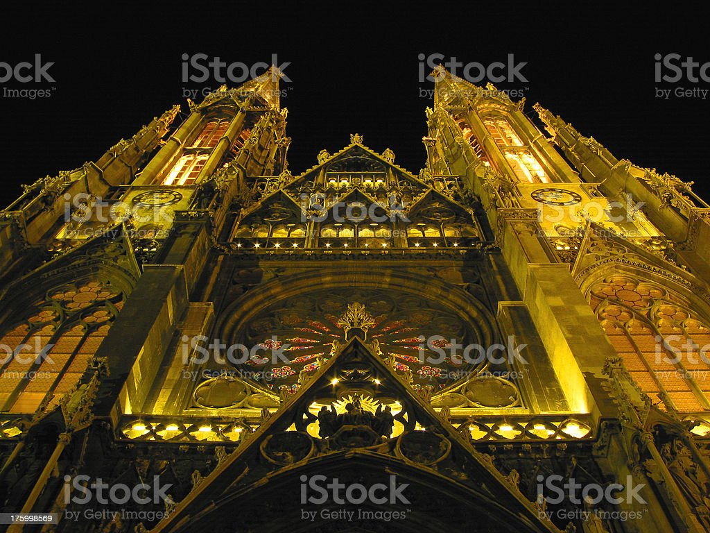 Cathedral at Night royalty-free stock photo