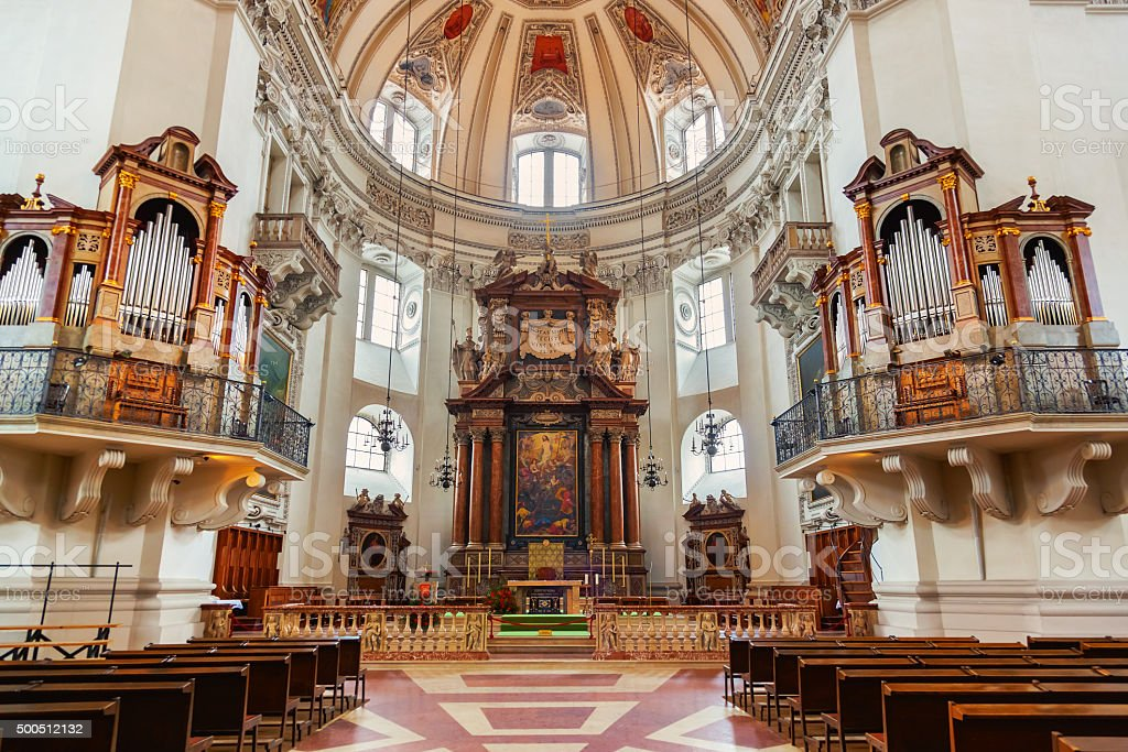 Cathedral at Salzburg Austria stock photo