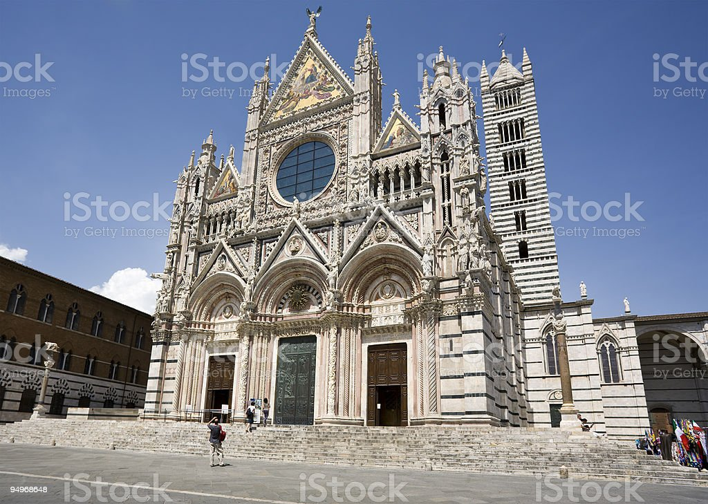 cathedral at Siena stock photo