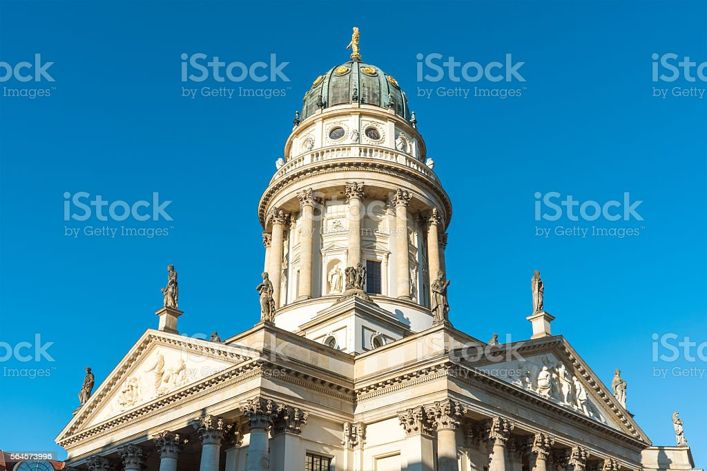 Cathedral at the Gendarmenmarkt in Berlin stock photo