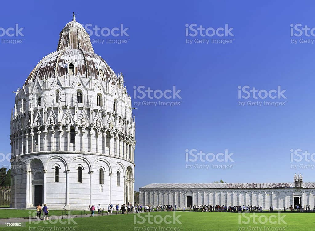 Cathedral, Baptistery and Tower of Pisa. royalty-free stock photo
