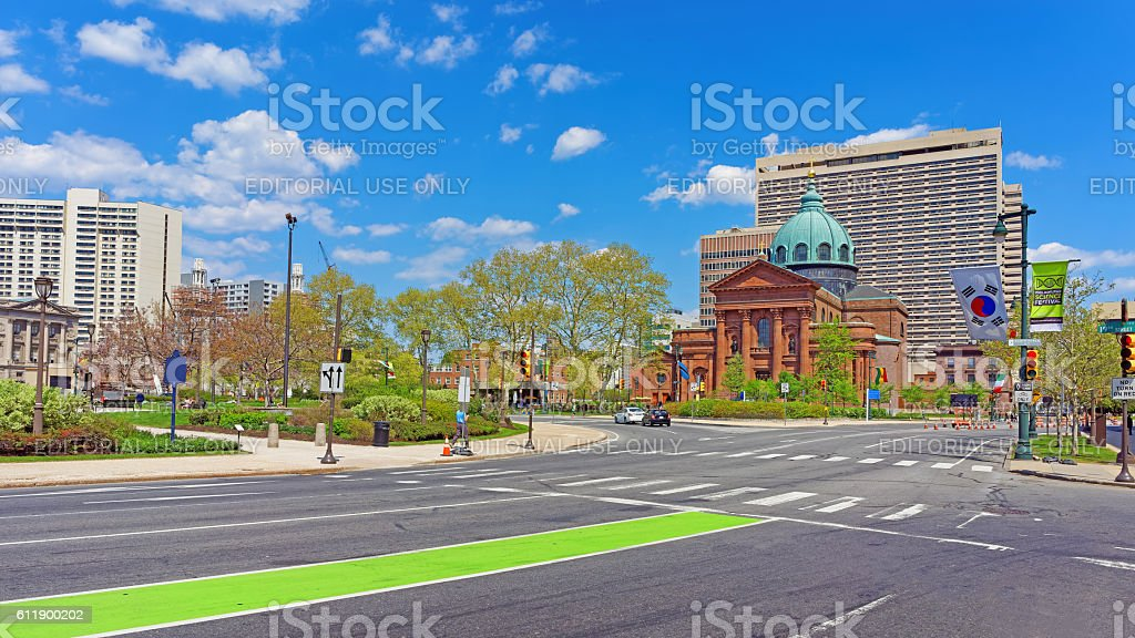 Cathedral Basilica of Saints Peter and Paul in Philadelphia Penn stock photo