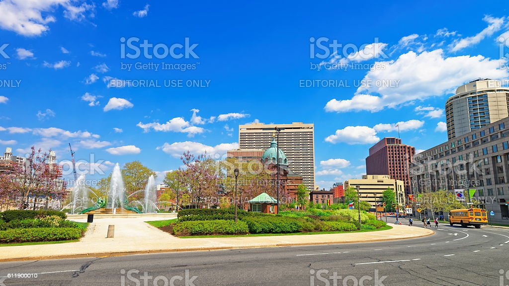 Cathedral Basilica of Saints Peter and Paul of Philadelphia PA stock photo
