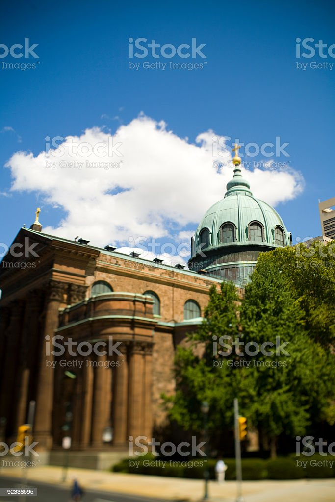 Cathedral Basilica of Saints Peter and Paul stock photo