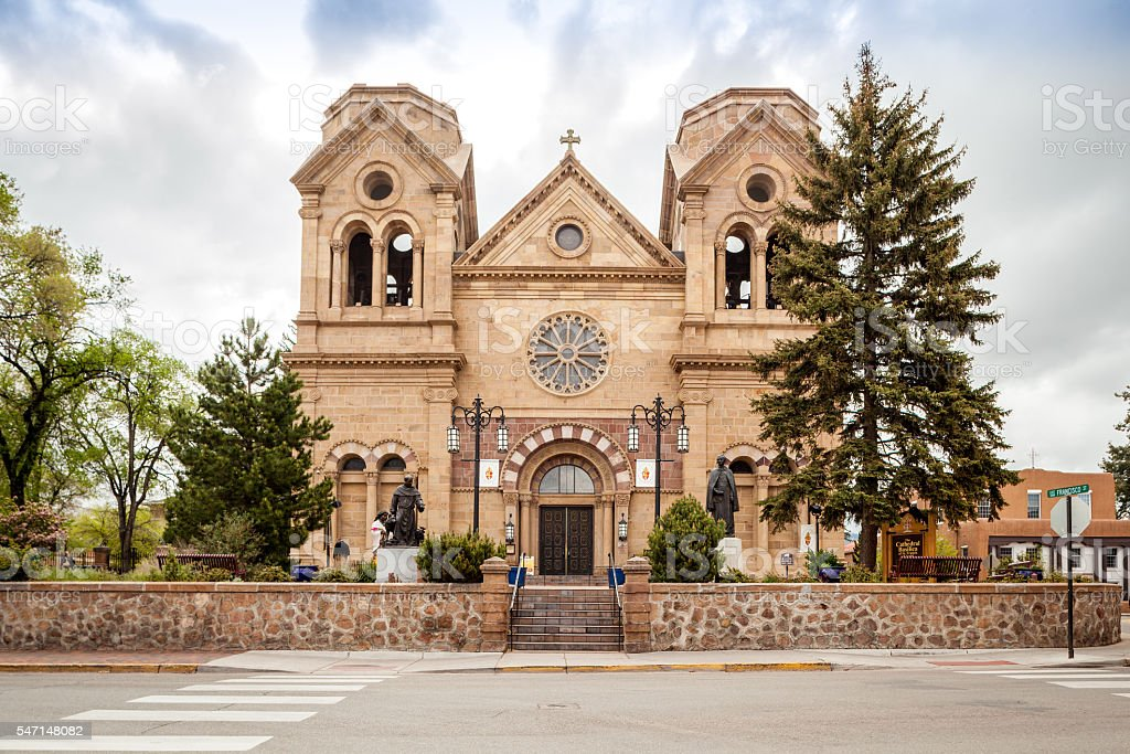 Cathedral Basilica of St. Francis, Santa Fe stock photo