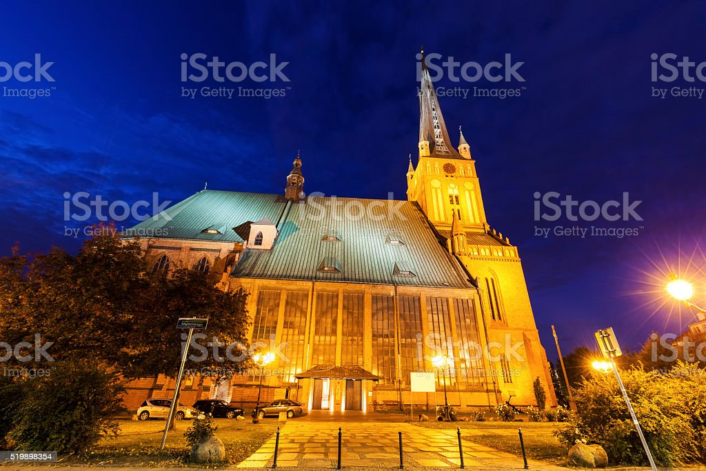 Cathedral Basilica of St. James the Apostle in Szczecin stock photo