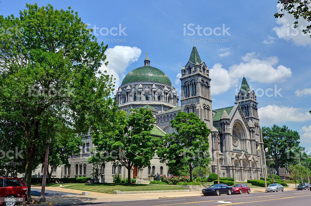 Cathedral Basilica of St. Louis stock photo