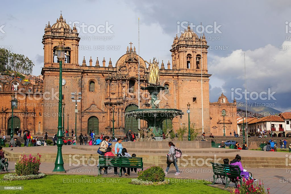 Cathedral Basilica of the Assumption of the Virgin stock photo