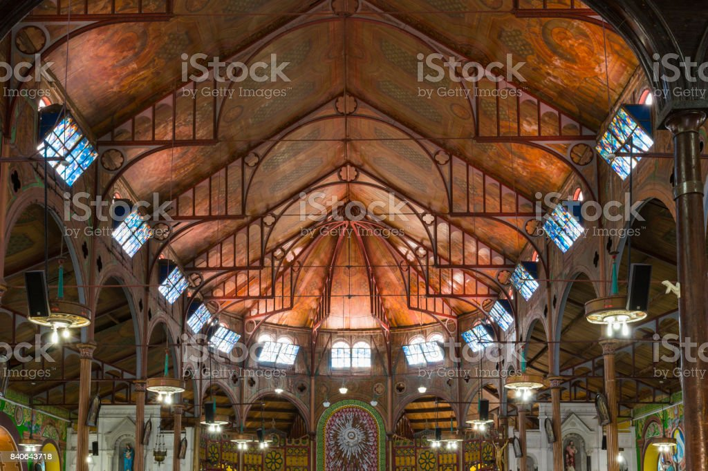 Cathedral Basilica of the Immaculate Conception stock photo