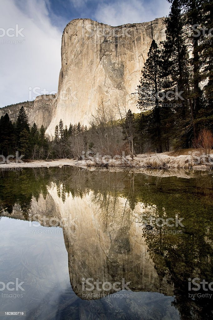 Cathedral Beach El Capitan Reflections royalty-free stock photo