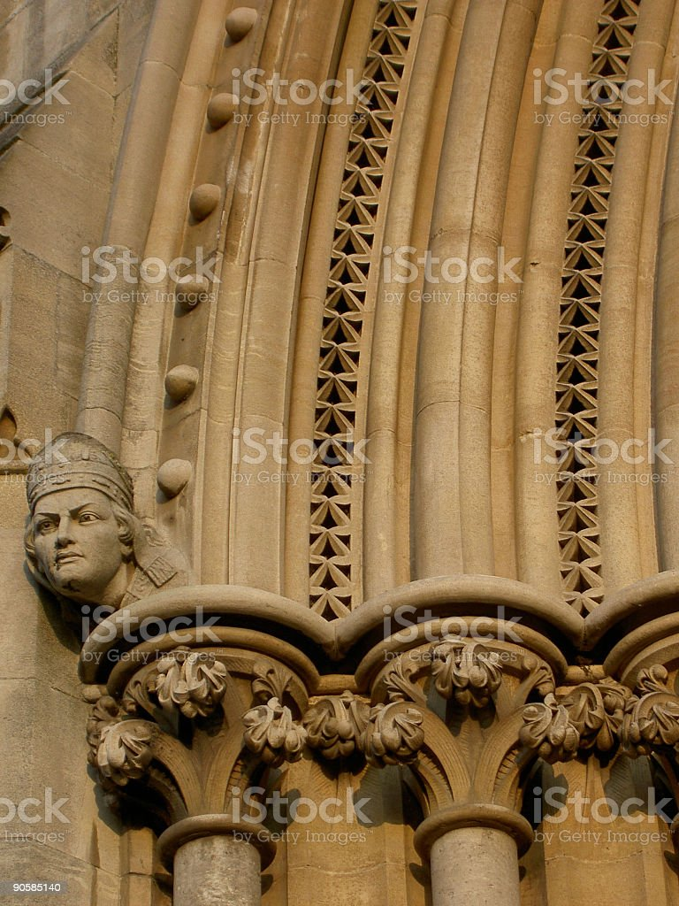 Cathedral Carving stock photo