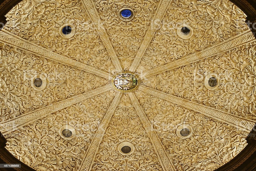 Cathedral ceiling royalty-free stock photo