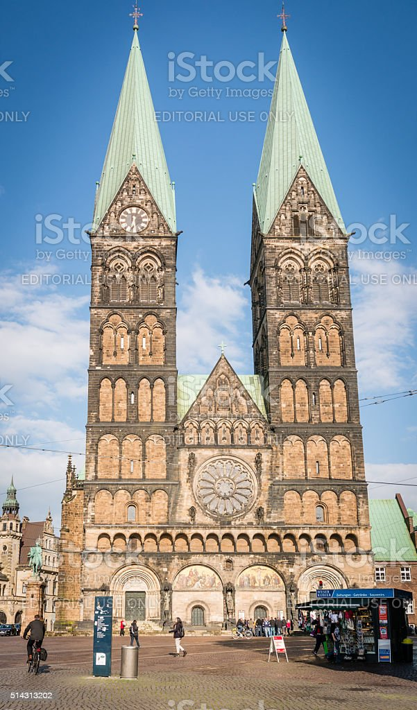 Cathedral church (Bremer Sankt Petri Dom) in Bremen, Germany stock photo
