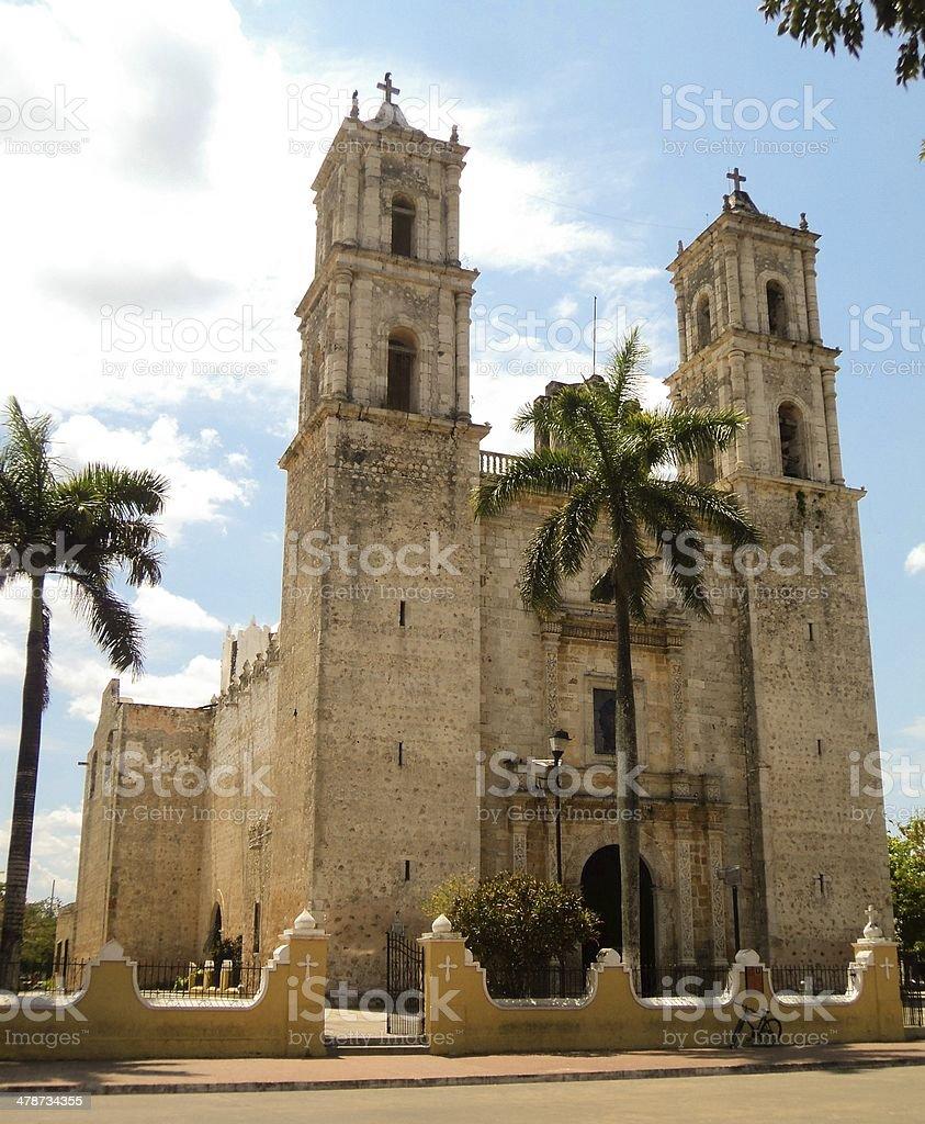 cathedral church Mexico Merida stock photo