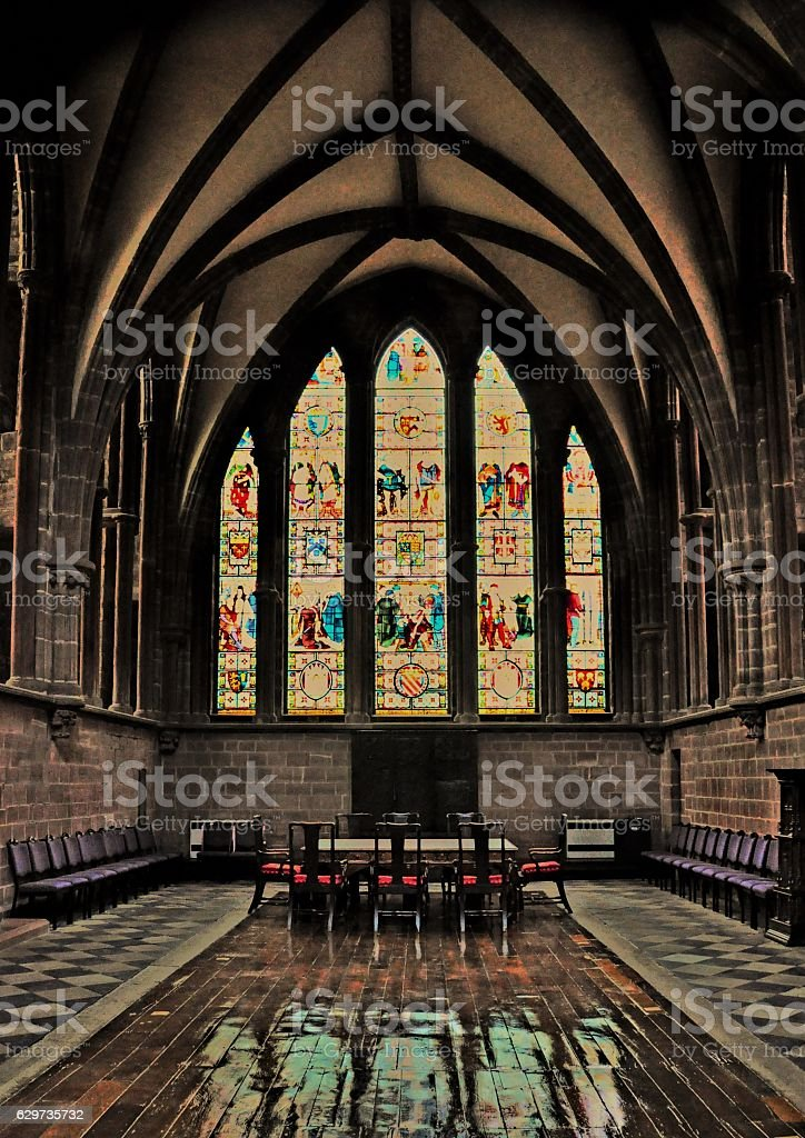 Cathedral Church of Christ and the Blessed Virgin Mary Chester stock photo