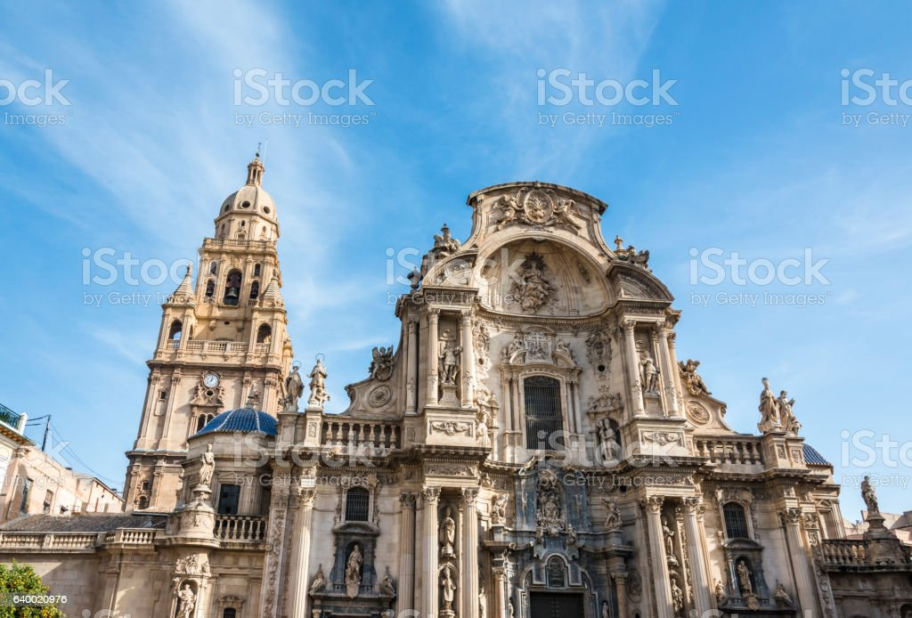 Cathedral Church of Saint Mary in Murcia, Spain. stock photo