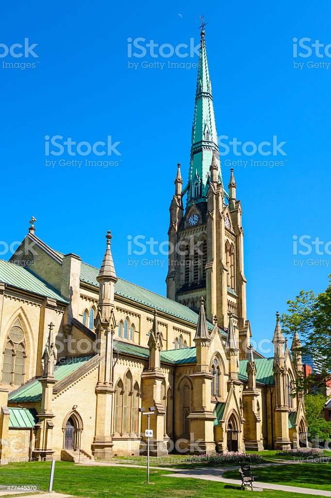 Cathedral Church of St. James in Toronto stock photo