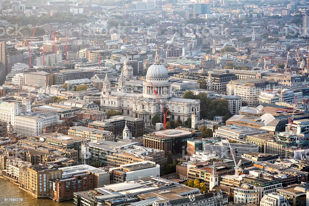 Cathedral Church of St Paul the Apostle, London, England stock photo