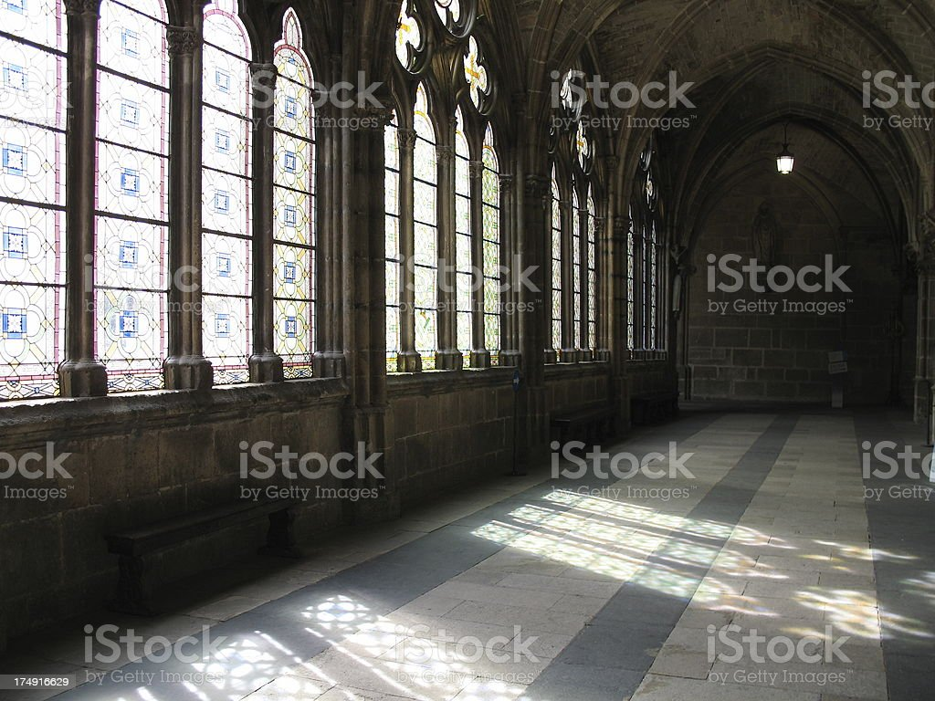 Cathedral Cloister stock photo