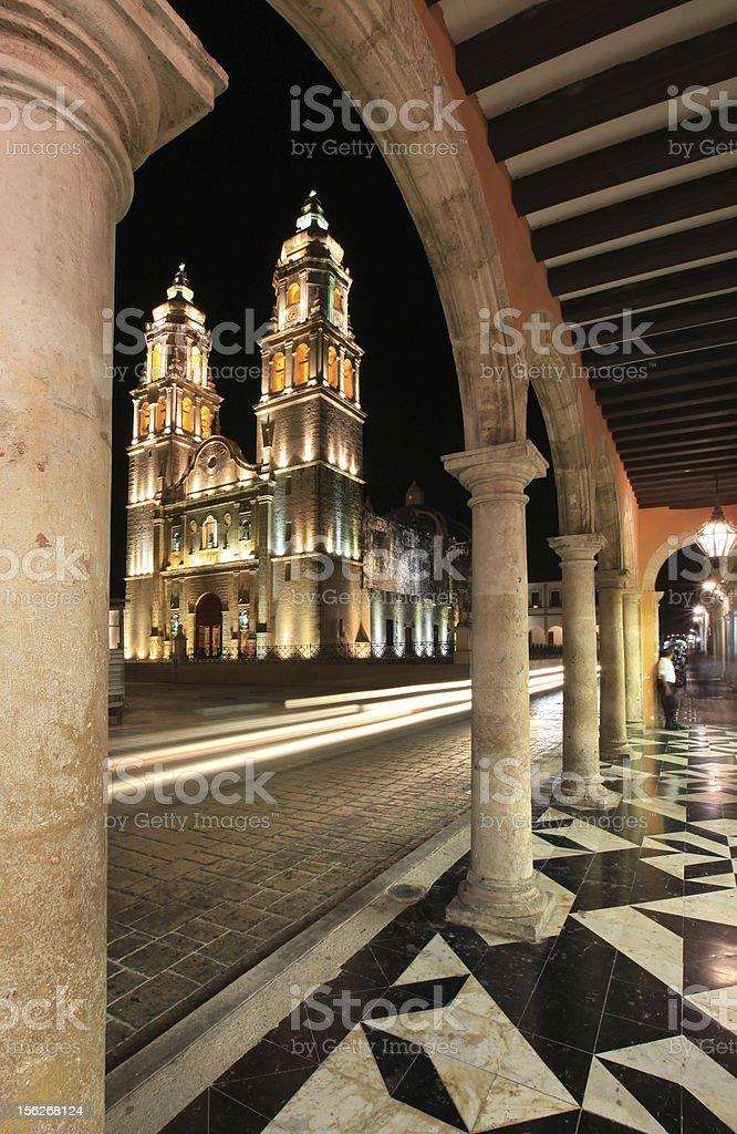 Cathedral de la Concepcion in Campeche royalty-free stock photo