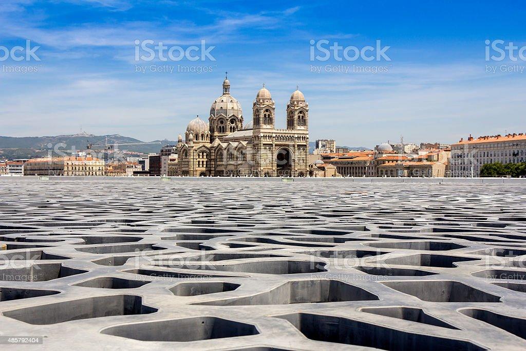Cathedral de la Major in Marseille stock photo