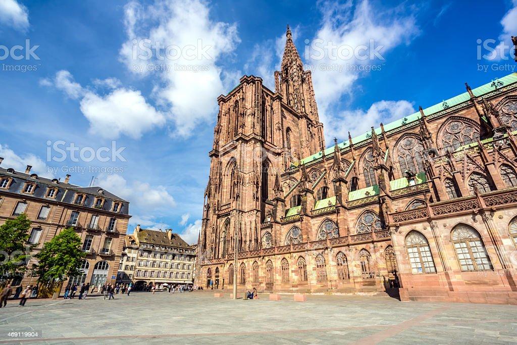 Cathedral de Norte-Dame In Strasbourg, France stock photo